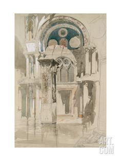 Part of Saint Mark's Basilica Giclee Print by John Ruskin at Art.com