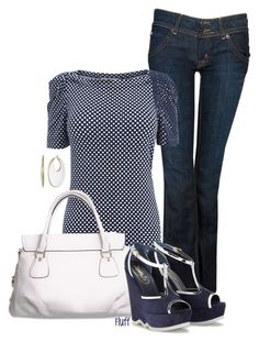 """polka dot"" by fluffof5 ❤ liked on Polyvore featuring Hudson Jeans, Oasis, Cheeky Budha, Kenneth Cole and Yves Saint Laurent"
