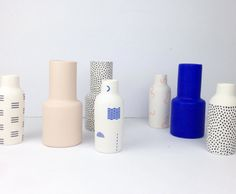 Hand painted porcelain vases by The Granite