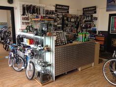 'the bunker' our counter at Cyclelife Shoreham, command centre!