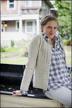 """Sullivan"" by Whitney Gegg-Harrison. Published in Brooklyn Tweed WOOL PEOPLE. #Knitting #BrooklynTweed #cardigan"