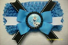Frozen Olaf Blue Hair Bow Headband by yulimar1 on Etsy, $15.00