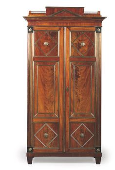 A RUSSIAN BRASS-MOUNTED MAHOGANY ARMOIRE -  19TH CENTURY AND LATER Furniture Styles, Furniture Design, Antique Furniture, Home Furniture, Home Goods Decor, Antique Cabinets, Nordic Design, Furniture Inspiration, Victorian Era