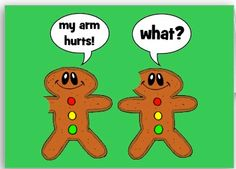 Gingerbread Man Humor: What? Funny Christmas Cards, Christmas Humor, Holiday Cards, Winter Cards, Christmas Pictures, Funny Cartoon Pictures, Cartoon Jokes, Kid Jokes, Cartoon Characters
