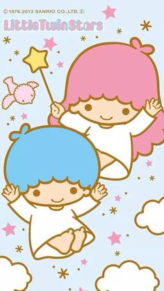 Wallpaper Kawaii Doll, Sanrio Characters, Little Twin Stars, My Melody, Betty Boop, Chibi, Hello Kitty, Twins, Paper Crafts