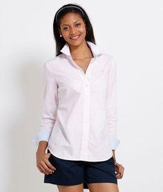 Tops for Women: Striped Sadie Oxford Shirt for Women - Vineyard Vines