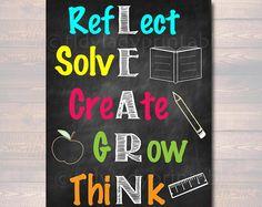 LEARN Acronym Poster, Growth Mindset, INSTANT DOWNLOAD, Printable Motivational Wall Art, School Office, Classroom Decor, Teacher Chalkboard
