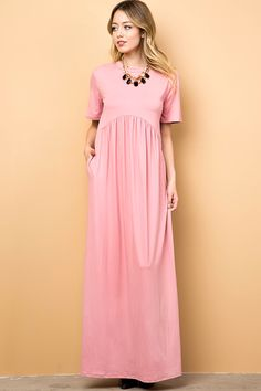 f7cac8c9fbe SOLID JERSEY MAXI DRESS