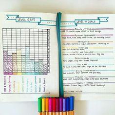 Level 10 life, bullet journal ideas - it is not mine