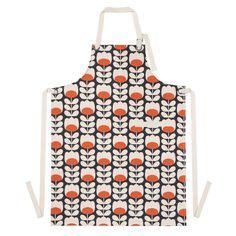 Orla Kiely: Cotton apron with Tulip print. Pocket to front.
