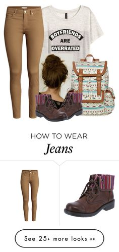 """""""Lol I Have The Same Jeans And Shoes"""" by jhuman72 on Polyvore featuring H&M and SM New York"""
