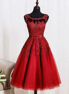 Burgundy lace tulle short prom dress, burgundy evening dress, Customized service and Rush order are available Dama Dresses, Dresses Short, Tea Length Dresses, Formal Dresses, Party Dresses, Occasion Dresses, Burgundy Evening Dress, Evening Dresses, Red Homecoming Dresses
