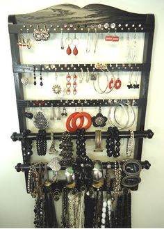 Jewelry Holder, Earring Storage 72 -144 Pairs, Bangle Bracelet Bar, 11 Peg…