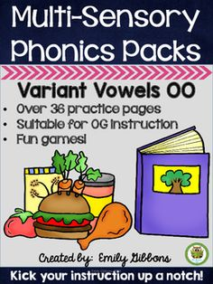 This vowel digraphs pack has everything you need to teach the vowel digraphs oo, also called variant vowels oo. It uses a systematic, multisensory approach and is compatible with Orton-Gillingham and other reading interventions. Teaching Phonics, Phonics Activities, Teaching Resources, French Language Learning, Learning Spanish, Language Arts, Phonics Chart, Vowel Digraphs, Phonemic Awareness Activities