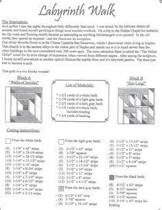 Image result for labyrinth walk quilt cutting instructions