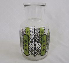 Vtg Anchor Hocking Glass Espana Carafe Barware Retro Vase Pitcher 32 oz #AnchorHockingGlass