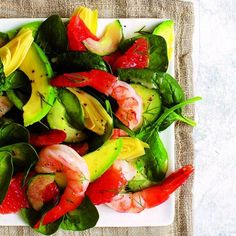 Try this Shrimp and grapefruit salad recipe with avocado as a refreshing alternative to your everyday salad. Find fresh salad ideas at Chatelaine.com.