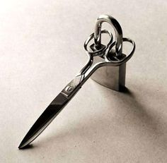 Smart! This would keep my husband away from my sewing scissors!