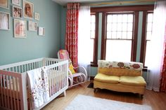Vintage Couch in Nursery