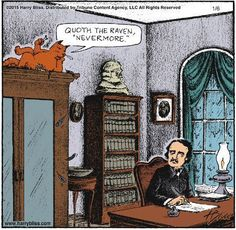 Poe's Inspiration - Happy Caturday - Writers Write Creative Blog