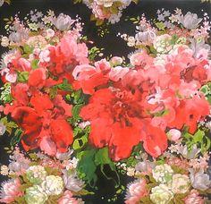 "Iet Langeveld; Acrylic, 2011, Painting ""Paeonia"""