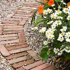 Garden Budget-garden-ideas-old-brick-path Tips On How To Care For Your Deck Think your deck is imper Pebble Garden, Garden Stones, Garden Paths, Side Garden, Backyard Walkway, Garden Landscaping, Brick Walkway, Landscaping Ideas, Patio Ideas