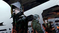 Ken Kaneki Renji Yomo Nishiki Nishio Tokyo Ghoul Anime 2560×1440
