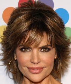 Lisa Rinna Layered Razor Cut - Short Hairstyles Lookbook - StyleBistro