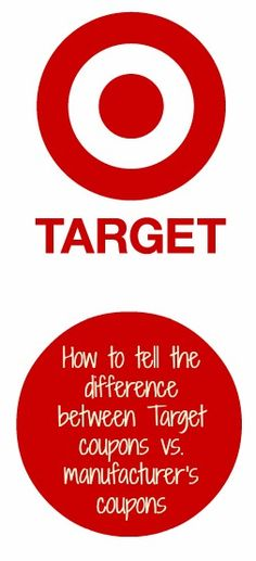 Don't waste your ink! Find out how to know which coupons are Target STORE coupons and which ones are manufacturers coupons! http://www.debtfreespending.com/how-to-tell-the-difference-between-a-target-web-or-a-manufacturers-coupon/