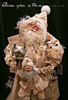 """Dee Gann """"Once Upon A Time"""".  Dee has been making Santas for over 20 years."""