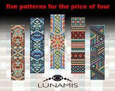 bracelet peyote pattern, bracelet design, odd count peyote, stitch pattern, pdf file, pdf pattern, FPP07