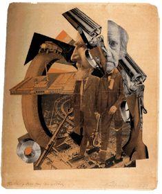 Fotomontagem com colagem de HANNAH HÖCH, 1923. Nascida em Berlin, na Alemanha, foi uma das mais importantes representantes do movimento dadaísta e precursora da fotomontagem.