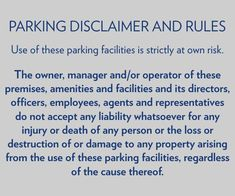 Disclaimer Signs