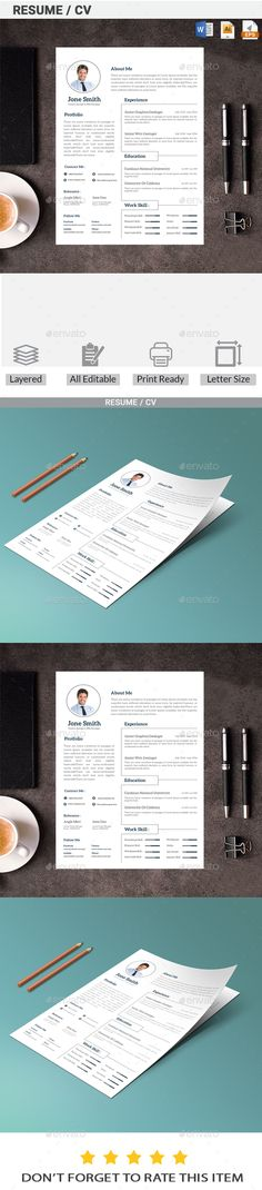 PSD CV Resume Template #$3 u2022 Only available here ➝   - graphic design resume template download