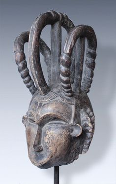 """Helmetmask, """"Maiden Spirit Mask"""" of the Idoma-peoples, Nigeria"""