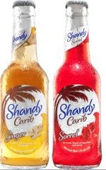 New Shandy Carib range, which combines lager with tropical flavours. The two flavours are Ginger and Sorrel.