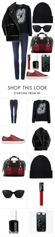 """Untitled #246"" by eavzm ❤ liked on Polyvore featuring Frame Denim, McQ by Alexander McQueen, Axel Arigato, H&M, Dsquared2, Margaret Howell, 3.1 Phillip Lim, NARS Cosmetics, Essie and Nikki Strange"