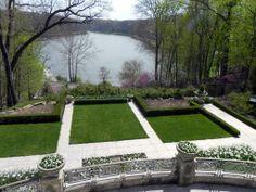 Overlooking Lake Glacier from Fellows Riverside Garden ~ Youngstown, Ohio The White Garden.