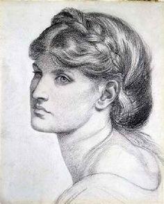Rossetti Dante Gabriel - Portrait of Alexa Wilding, a study for 'The Bower Meadow'