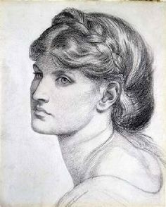 Rossetti Dante Gabriel - Portrait of Alexa Wilding, a study for 'The Bower…