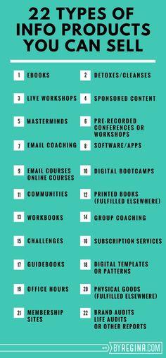 22 Types of Info Pro