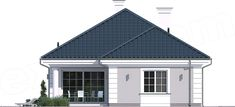 Elewacja tylna projektu Dom na parkowej 7 A Shed, Outdoor Structures, House Design, Windows, Outdoor Decor, Home Decor, Decoration Home, Room Decor, Architecture Design