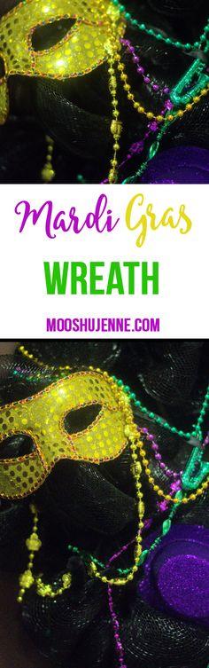 Mardi Gras Wreath Fo