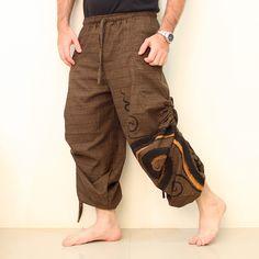 Casual Baggy Trousers Harem Pants Men Swirl. Buy Cheap Yoga Pants. We ship worldwide. #yogapants #yoga #namaste