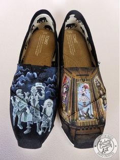 Custom+designed+hand+painted+Toms+shoes+inspired+by+Disney's+classic+ride,+The+Haunted+Mansion.+    PLEASE+READ+BEFORE+CONTACTING: