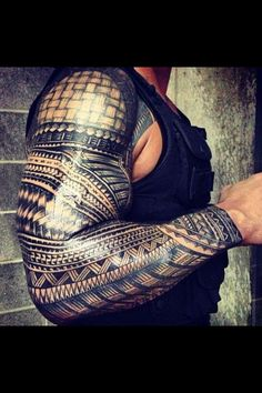 The awesome Samoan tribal of WWE wrestler Roman Reigns