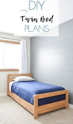 DIY Twin Bed   build your own twin bed with plans from Bitterroot DIY