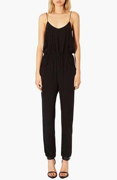 So easy! Topshop Black Silk Jumpsuit