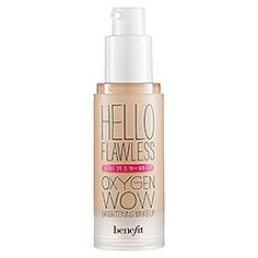 Benefit Cosmetics 'Hello Flawless' Oxygen Wow Liquid Foundation 'I'm Plush and Precious' Petal 1 oz by CoCo-Shop. Benefit Cosmetics 'Hello Flawless' Oxygen Wow Liquid Foundation 'I'm Plush and Precious' Petal 1 oz. Flawless Foundation, Flawless Face, Best Foundation, No Foundation Makeup, Liquid Foundation, Awesome Foundation, Foundation Cosmetics, Makeup Ideas, Makeup