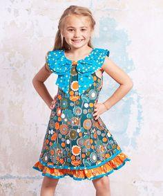 Look at this #zulilyfind! Teal Agra Kenzei Dress - Infant, Toddler & Girls by Jelly the Pug #zulilyfinds